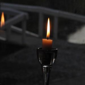 Stearinljus att reflektera vid
