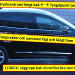 Tre tips för minskad vindkänslighet illustrerade med text på foto av Labb-Volvons sida.